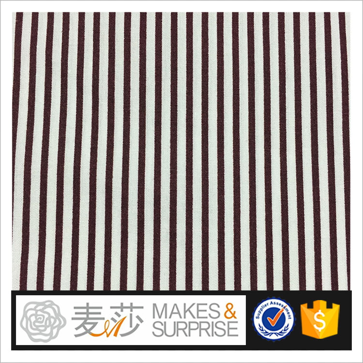 hot sale and design with stripe design 100%cotton poplin woven printed fabric supplier for blouse