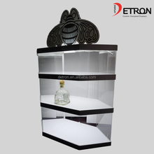 2016 Countertop clear acrylic display cabinet wine display cabinet with light