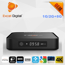 Amlogic S905 MXQ Plus TV box Quad Core with LED display android 5.1 1G/2G RAM 8G ROM 4K2K support T95M, MXQ Plus Android TV Box