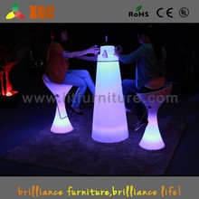 colored plastic wine tables, glass top led table, wine bottle table for bar GF331& GF332