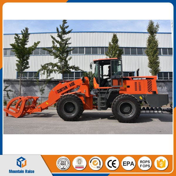 CE EPA mini paylader mini 2.5 ton hoflader wheel loader with log fork