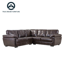 Best selling leather half moon corner sofa