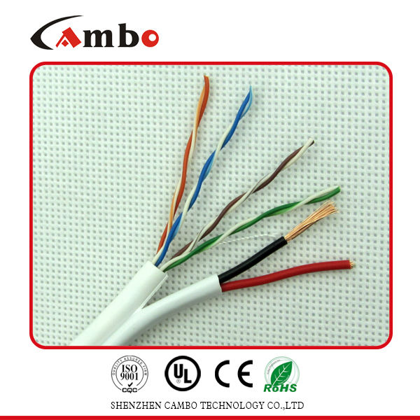 0.57mm cmp Ul list category 6 ethernet cable cctv camera power cable
