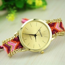 14 colors The most popular handmade geneva girls fancy watches factory price