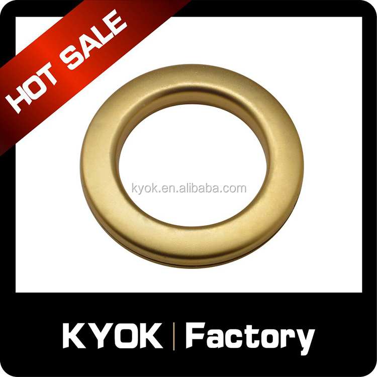 Foshan supply high quality ABS plastic curtain ring , plastic curtain eyelets for tapes , curtain fabric decorations