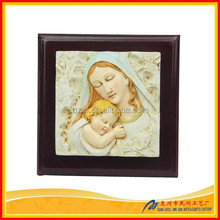 New Resin Mary and Baby Jesus Statue Gift Set,Christian Religious Items Wedding Gift,2015 New Products Cheap Item to Sell