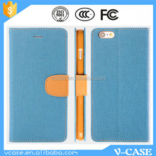 Mobile phone accessory Embossed logo flip leather case for vivo Y11