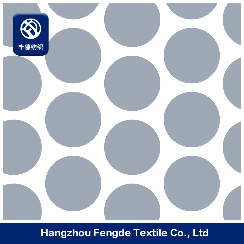 600d Polyester Pvc Backing Circle Printed Oxford Fabric