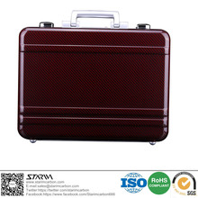 2017 Brand New Luxury 100% Real Carbon Fiber Suitcase Red Kevlar for Business Travel 17'