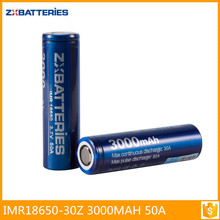 Zxbattery 3000mah 50A aw imr 18650 3.7v 2000mah rechargeable battery Batteries