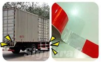 Hot sale high visibility 3M brand self adhesive red and white reflective tape for large vehicle