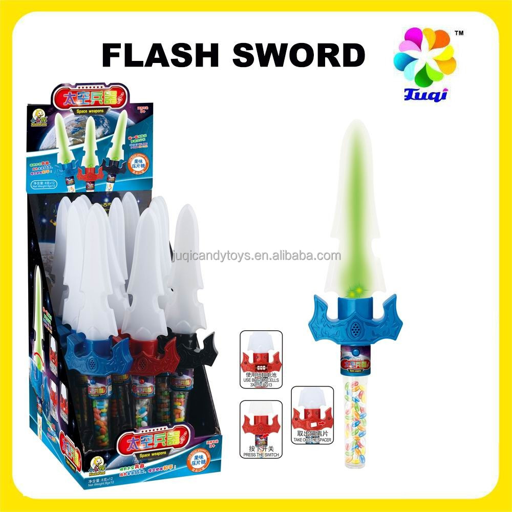 Plastic Flash Sword Candy with Music for boys