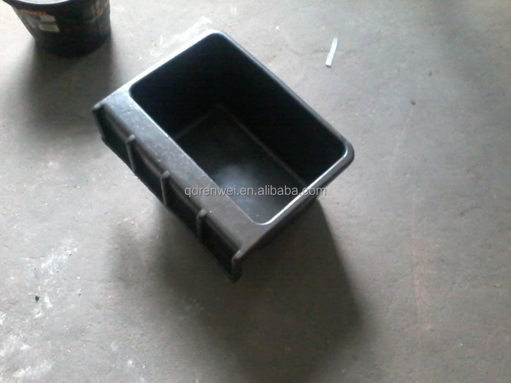 square rubber bucket,high quality rubber bucket