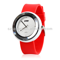 2013 popular morden style japan movement watch plastic made in china 008