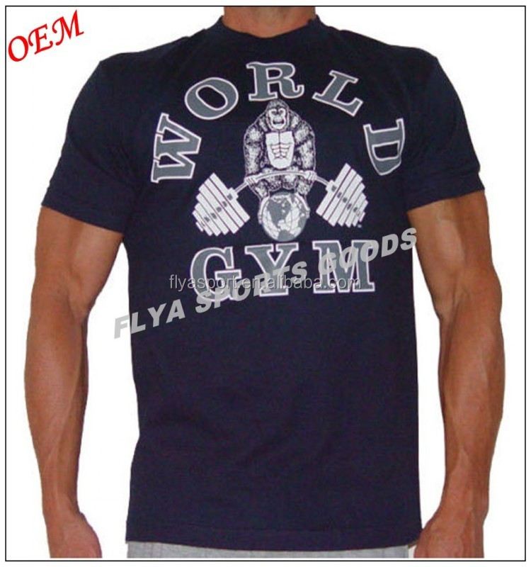 OEM big body plus size workout wear 100% cotton gym t shirt for men