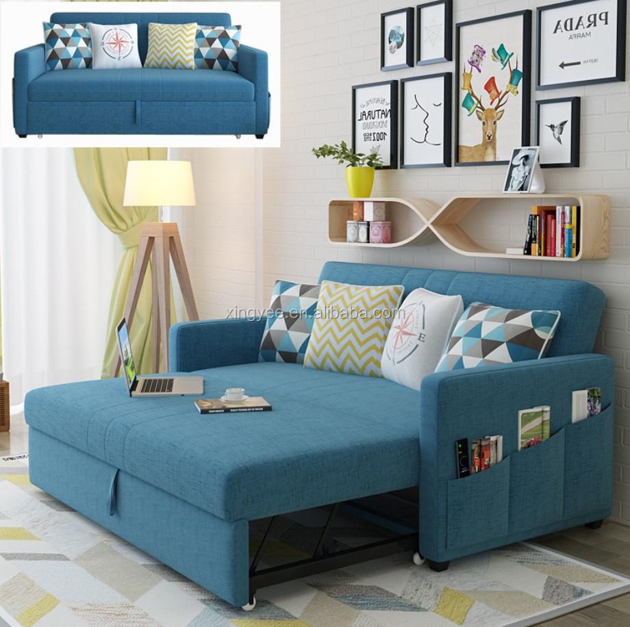 Sofa Cum Bed Living room Furniture Fabric transformer sofa bed hotel ...