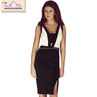 ML18256 Gothic Style Wholesale Western Clothing Below The Knee Dresses