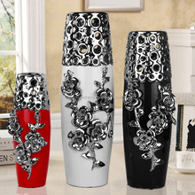 set of 3 european ceramic wedding decor vases for parlour