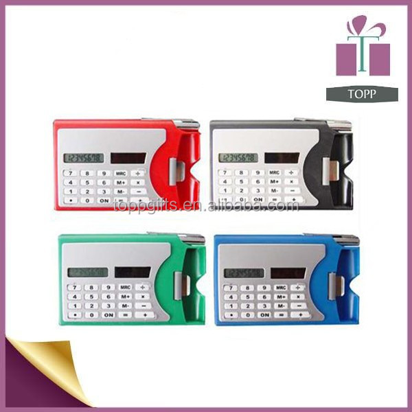 promotional gift card holder calculator solar office calculator with pen