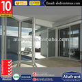 Aluminum Accordion doors with AS2047 Certification with Doric hardware Double glazing glass Manufacturer in Guangzhou China