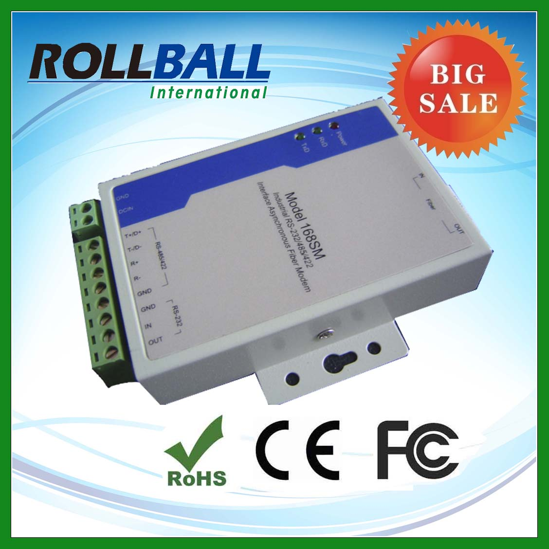 high quality oem rs485 fiber modem