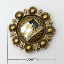 35MM Antique Brass Screw Back Conchos With Epoxy For Leathercraft Manufacturer