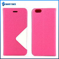 [Smart Times] Hot Selling PU+TPU Flip Case Cover for iPhone 6 sewing Arts Style