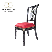 Shock price hotel red dining chair wooden stack able banquet hall chair