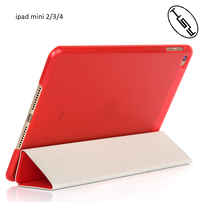 HUYSHE Hot Selling Joy Color Foldable Leather PU+ PC Protective Smart Tablet Cover Case for Ipad Mini 2 3 4