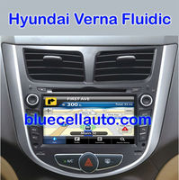 Hyundai Verna Fluidic Car DVD / GPS Navigation touch screen Player