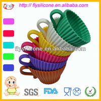 Promotional Silicone Colored Bakeware With PP Saucer FDA&LFGB Approval