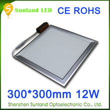 Shenzhen factory SMD3014 AC85-265V 1200lm aluminium panel light frame