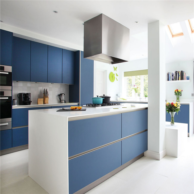 Wholesale refinishing cabinets used blue lacquer kitchen cabinets
