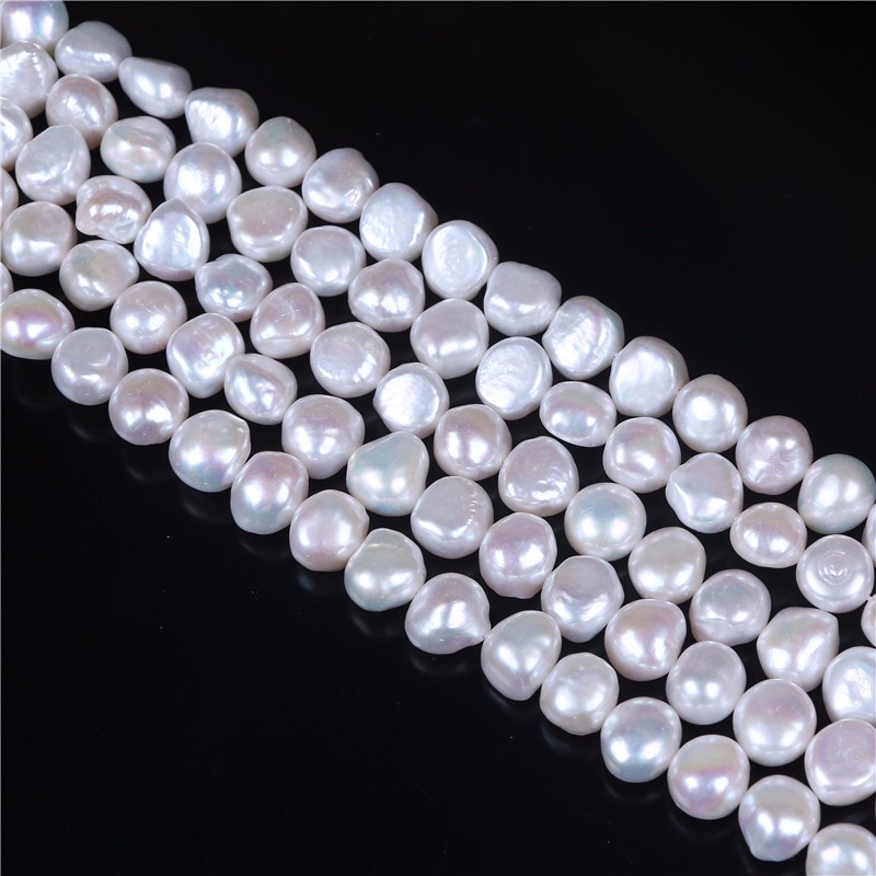 Cultured Side Drilled Natural Baroque Pearl Loose Strand