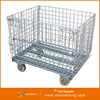 Stacking Mesh Container Foldable Basket Steel Storage Cages Folding and Stacking