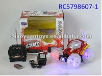 Remote control stunt car 4channel radio control stunt car with music and light 2 color assorted RC5798607-1