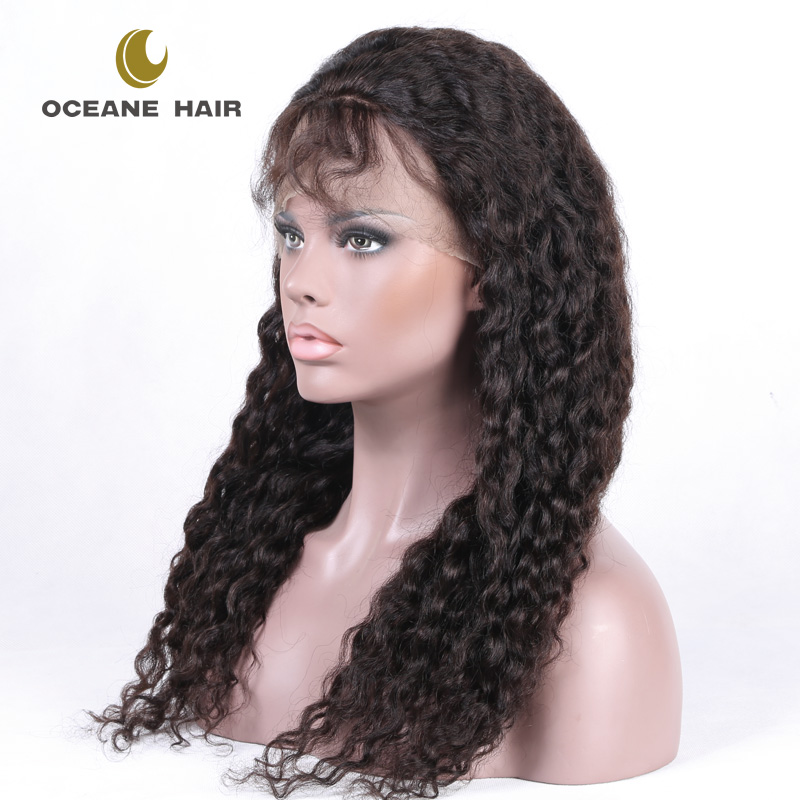 Oceane hair Wholesale bob style 100 human hair full lace wig bangs