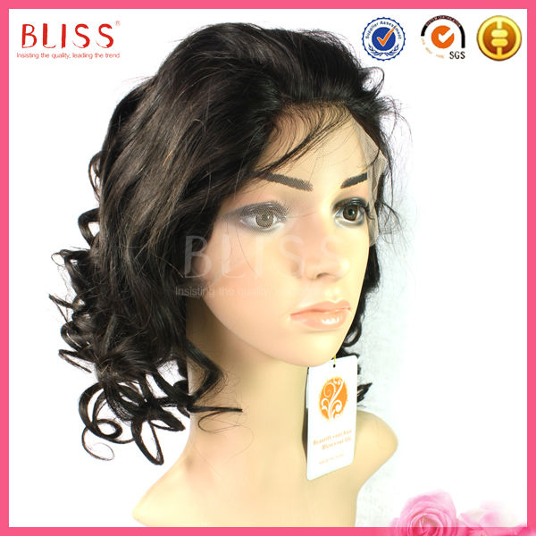 Human Hair Full Lace Wig Swiss Net without Shedding and Tangling