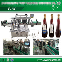 Automatic manual adhesive bottles labeling machine/heat transfer labels