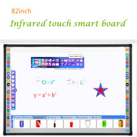 [Hot] four fingers touch infrared interactive whiteboard,smart board in China