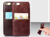 Ultra Slim Leather Phone Case for iPhone 6 , Mobile Phone Case for iPhone 6 Leather Back Case with Card Holder