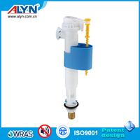 Two-Way non-corrosive POM brass shank fast one piece toilet tank side fill valve