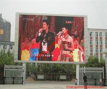 200SQM P16mm Pole video led billboard led panel outdoor