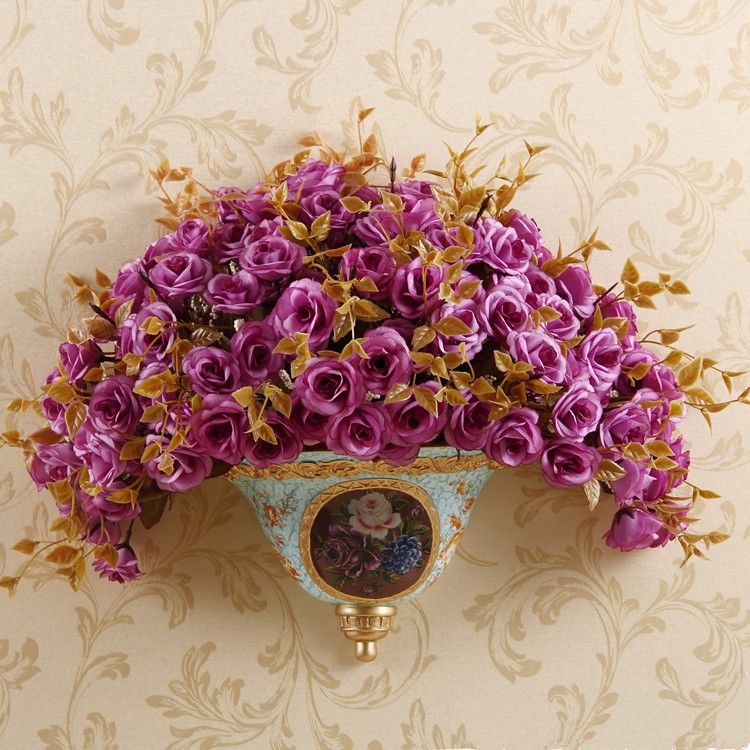 Best selling products in europe 10 inch hotel decoration resin wall hanging flowerpot craft