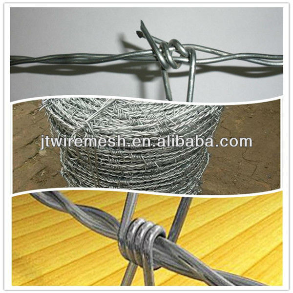 MT heavy galvanized 2 strand 4 points barbed wire fence