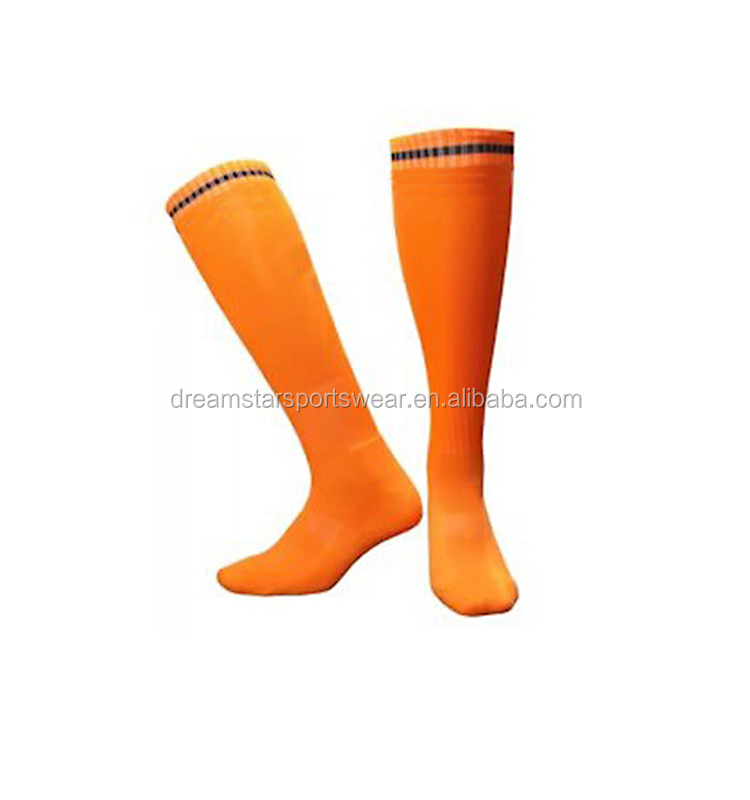 Custom Design Anti-slip Striped Football Socks