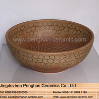 Jingdezhen traditional handmade ceramic sanitary ware single bowl vanity basin