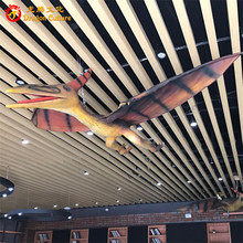 High simulation 3D exhibits on display robotic dinosaur animal playground equipment flying dinosaur model for sale