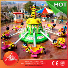 Fun swing ! hot selling rotary honey bee fairground mini amusement rides for kids