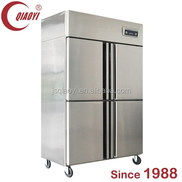 stainless steel restaurant kitchen upright deep freezer
